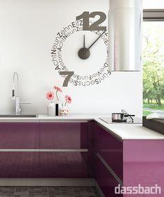 Fabulous beautiful purple kitchen