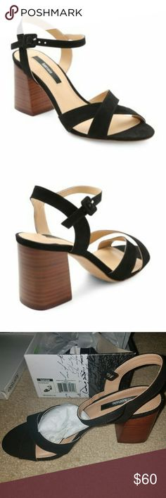 4e8a2c2a614 Kensie Exalia Block Heel Crisscoss Sandal - SEO Brand New - In Packaging  and Box - Crisscoss design - Stacked heel