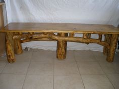 natural log benches | Ocassional Tables -Log Furniture, Phoenix, AZ