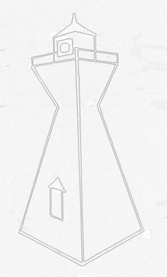 stylized line drawing of range light at Victoria Harbour, Ontario, Canada Victoria Harbour, Light Decorations, Line Drawing, My Drawings, Ontario, Lanterns, Lamps, Range, Canada