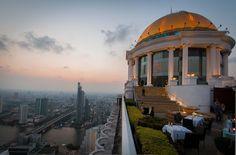 Lebua State Tower, at Sirocco SkyBar. Amazing view of Bangkok!