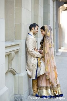 After tying the knot, this lovely bride and groom take a moment to pose for beautiful portraits!