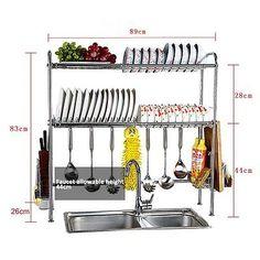 ff2ffcf4968e Amazon.com: PremiumRacks Professional Over The Sink Dish Rack ...