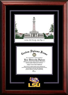 NCAA LSU Tigers Spirit Diploma Picture Frame