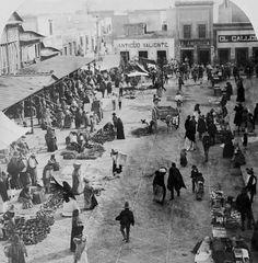 Mercado San Juan en México, 1900