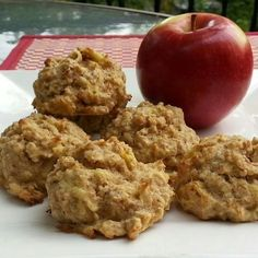 65 Ideas Cookies Moelleux Vegan For 2019 Desserts With Biscuits, Cookie Desserts, Dessert Recipes, Dessert Biscuits, Apple Recipes, Clean Recipes, Cooking Recipes, Fruit Recipes, Healthy Deserts