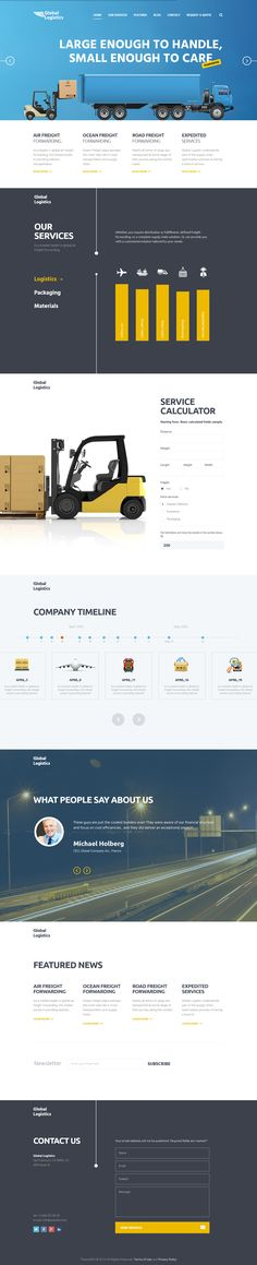 Global Logistics | Transportation & Warehousing WordPress Theme #webdesign #website Download: http://themeforest.net/item/global-logistics-transportation-warehousing/12188260?ref=ksioks