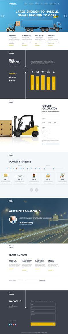 Global Logistics | Transportation & Warehousing WordPress Theme #webdesign #website Download: http://themeforest.net/item/global-logistics-transportation-warehousing/12188260?ref=ksioks