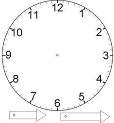 Free clock printable for teaching time at Excuse Me Mrs C! Teaching Time, Teaching Tools, Teaching Math, Maths, Clock Template, Face Template, Math Classroom, Kindergarten Math, Preschool