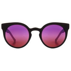 c2183f9d0b KOMONO Lulu Rubber Series Sunglasses in Black/Purple Purple Mirror, Black  Rubber, Violet