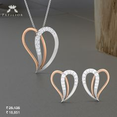 Start a trend on Tuesday with….Quilted Gold Heart Pendant Set. #buygoldpendantset #goldpendantsetprice #goldpendantsetdesign #goldpendantsetdesigns #goldpendantset