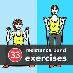 Resistance Band Excercises. WHERE HAS THIS BEEN ALL MY LIFE :)