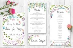 Watercolor Leaves Printable Wedding by AmistyleDigitalArt on Etsy - Watercolor Leaves Printable Wedding Invitation Suite | Wedding Invitations,Printable Invitation,Wedding Invites,DIY Wedding,Floral Invite - This listing is for a hand painted printable wedding invitation suit with watercolor leaves and floral elements