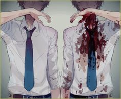 I can't cry. I can't hate myself. No. I'm not a monster. I'm fine. As long as i can keep this secret, noone will know!