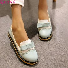 slip on on sale at reasonable prices, buy ESVEVA Spring/Autumn Slip On  Round Toe Flat Women Shoes Mixed Color Lace Shallow Mouth PU Soft Leather  Miss Shoes ...