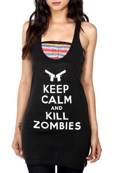 Keep Calm and Kill Zombies Girls Tunic Tank Top from Hot Topic