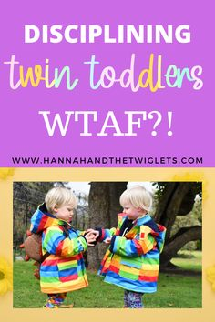 How on earth do you go about disciplining twin toddlers?! In this post I share my struggles with trying to discipline my 2-year-old twins. #hannahandthetwiglets #twintoddlers #twoyearoldtwins #twins #terribletwos #discipline Discipline 2 Year Old, Kids Behavior, Child Behaviour, Twin Toddlers, Terrible Twos, Attachment Parenting, My Struggle, Gentle Parenting, Two Year Olds