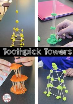 5 Ways to Prove What STEM is Not STEM Challenge: Toothpick towers! Students all have the same supplies, but they build completely different structures! Each group adds its own special ideas! Stem Projects, Science Projects, Projects For Kids, Crafts For Kids, Art Projects, Crafts Cheap, Fall Crafts, Diy Crafts, Stem Science