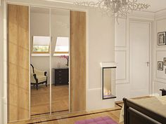 """Mirror Sliding Door-  """"Choose mirror sliding doors to allow the light to spread through and to add a new fresh perspective into your room"""""""