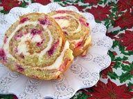 Gluten Free Flourless Cranberry Cake Roll