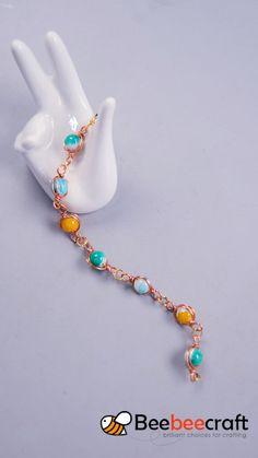 tutorial on making with - DIY Schmuck Wire Jewelry Designs, Handmade Jewelry Bracelets, Jewelry Patterns, Beaded Bracelets, Recycled Jewelry, Necklaces, Diy Bracelets Easy, Bracelet Crafts, Homemade Bracelets