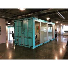 Conference rooms in an open office... In a shipping container  we loved…