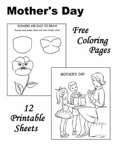 Mothers Day coloring pages!