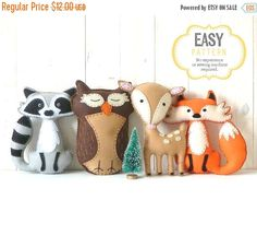 40% OFF: Woodland Stuffed Animal Patterns von LittleSoftieShoppe