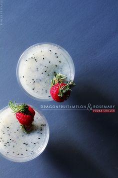 Dragon + Melon and Rosemary Vodka Chiller via BakersRoyale