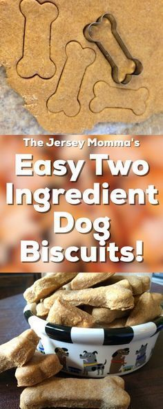 Food recipes on pets pinterest homemade dog food homemade dog easy 2 ingredient dog treats make your own healthy dog biscuits forumfinder Gallery