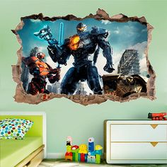 Pacific Rim 2 Uprising 3D Wall Decal Sticker Vinyl Decor Mural