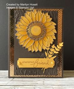 Sunflower Cards, Stamping Up Cards, Rubber Stamping, Thanksgiving Cards, Fall Cards, Christmas Cards, Happy Birthday Cards, Art Birthday, Birthday Wishes