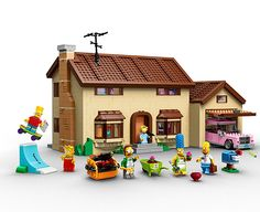 LEGO  X THE SIMPSONS Launch Minifigs, House Construction Set