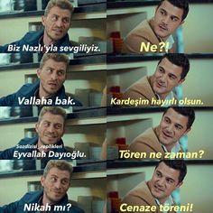 😂😂😂😂 Turkish Language, Boyfriend Goals, Film Quotes, Undertale Au, Turkish Actors, Comedy Zone, Actors & Actresses, Funny Memes, Love You