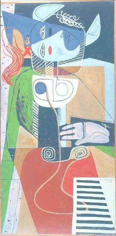 Taureau VI by Le Corbusier Mary Cassatt, Henri Matisse, Monet, Colour Architecture, Georges Braque, Cow Art, Collage, Wassily Kandinsky, Figurative Art