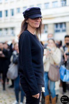 Emmanuelle Alt Paris Fashion Week FW 2014 by STYLEDUMONDE