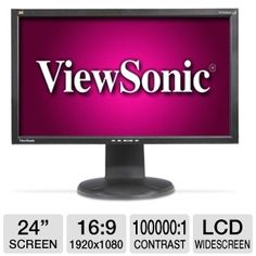 """The ViewSonic VG2428wm 24"""" Class Widescreen LCD Monitor is the versatile display you've been looking for.    The ViewSonic 24"""" Class Widescreen LCD Monitor's USB hub allows you to connect more peripherals simultaneously. Its 5ms response time lets you quickly respond to opponents in games. The ViewSonic Monitor reduces your carbon footprint while maintaining high-definition viewing."""