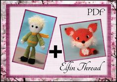 Elfin Thread  The Little Prince and his Fox Set by ElfinThread