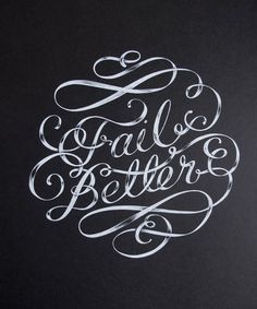 Fail Better Typography Design Poster by maricormaricar