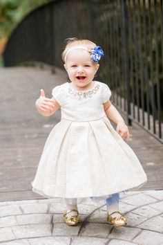 flower girl - white cute dress with color tutu underneath!