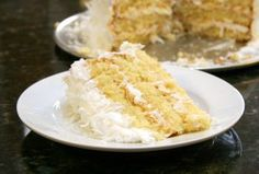 This recipe is a coconut cake with a homemade coconut frosting. You can toast the coconut for a little more crunch and flavor. Homemade Sour Cream, Homemade Vanilla, Homemade Cakes, Basic White Cake Recipe, Cake Mix Pancakes, Italian Cream Cakes, Coconut Frosting, Cake Recipes From Scratch, Coconut Recipes