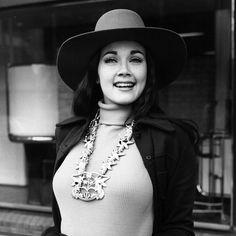 Miss USA 1972, Lynda Carter, in London.