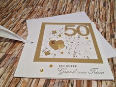 Glückwunschkarte zur Goldenen Hochzeit von Sanne´s Zauberstempel auf DaWanda.com