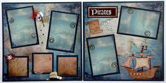 DISNEY SCRAPBOOK -pirates layout