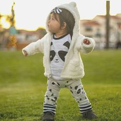 Baby and toddler leggings Panda See this Instagram photo by @little.plaid.bear • 128 likes