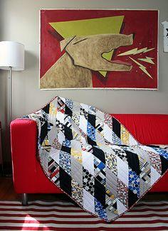 Sharp Edges Quilt by Michelle Engel Bencsko | Cloud9 Fabrics, via Flickr