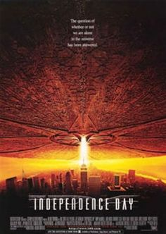 Independence Day (1996) - This flick is corny, clichéd, predictable, hammy, formulaic, implausible (Advanced aliens don't have Kaspersky? Alien spaceship design hasn't changed in 50 years?), and stars Will Smith. The good news? It's a fun movie, with decent, period effects, that is meant to be taken for what it is, nothing more. Soaring score. USA! USA! USA!