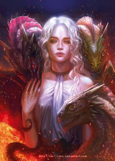 Game of Thrones: Daenerys by hart-coco on @DeviantArt