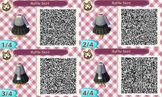 Animal Crossing - New Leaf Nintendo Custom Tiles QR Scan Codes Animal Crossing 3ds, Animal Crossing Qr Codes Clothes, Tumblr Roses, Motif Acnl, Code Wallpaper, Ac New Leaf, Harry Potter, Cute Baby Animals, Cute Babies