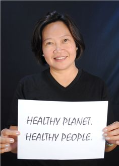 Merci Ferrer of HCWH-Asia for Earth Day 2013.  #Faceofclimate